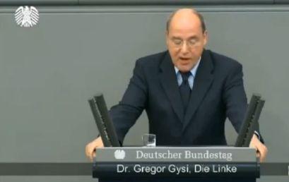 Грегор Гизи, председател на левите и германски депутат в Бундестага